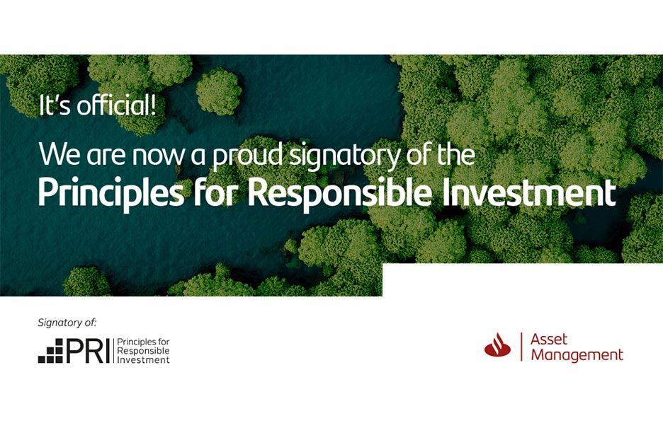 SAM firma los Principios de Inversión Responsable.